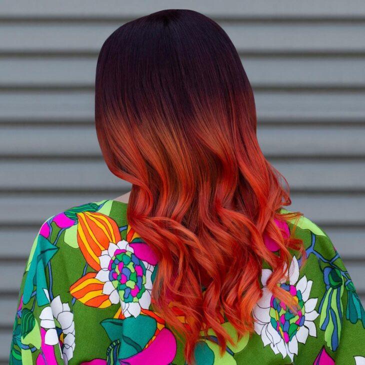 ombré hair vermelho 42