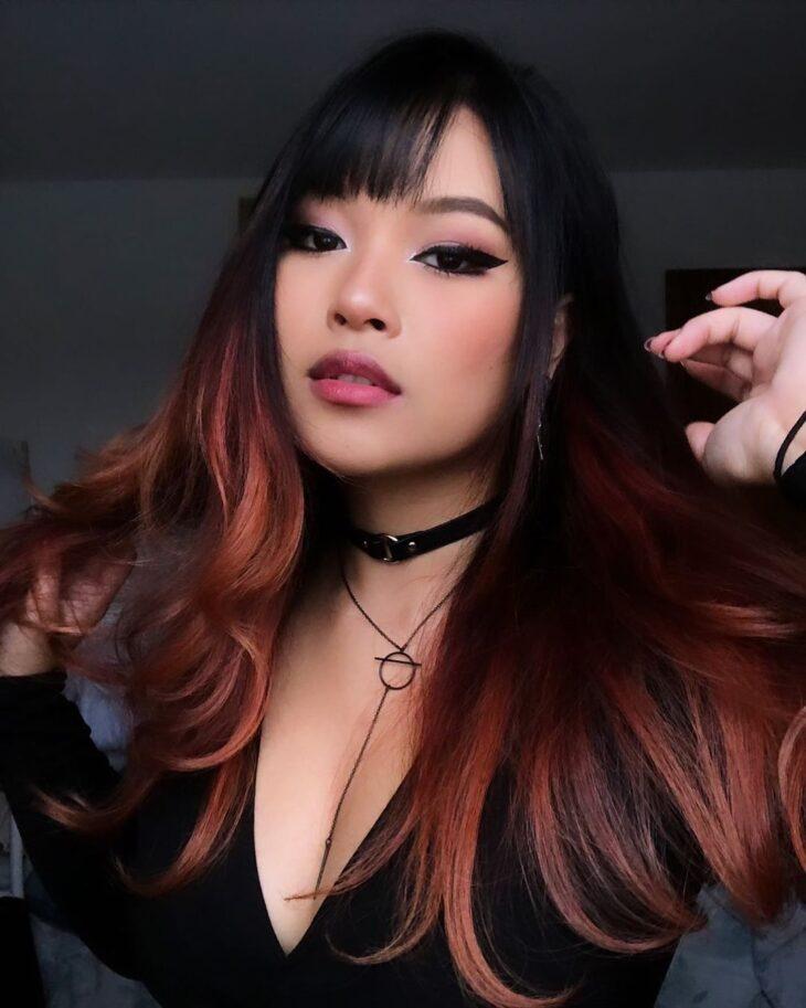 ombré hair vermelho 7