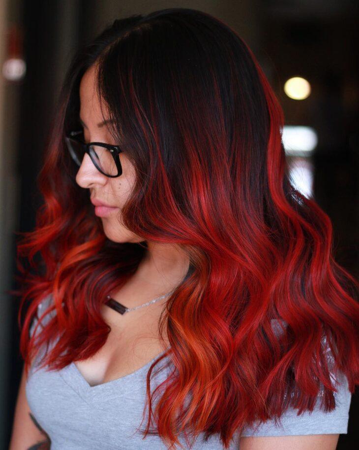 ombré hair vermelho 44