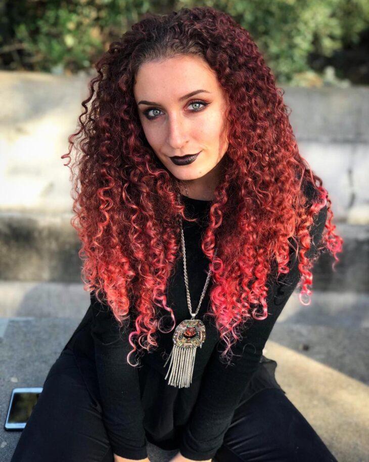 ombré hair vermelho 48