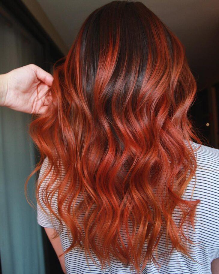 ombré hair vermelho 55
