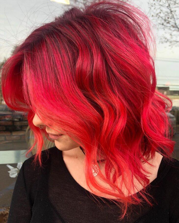 ombré hair vermelho 57