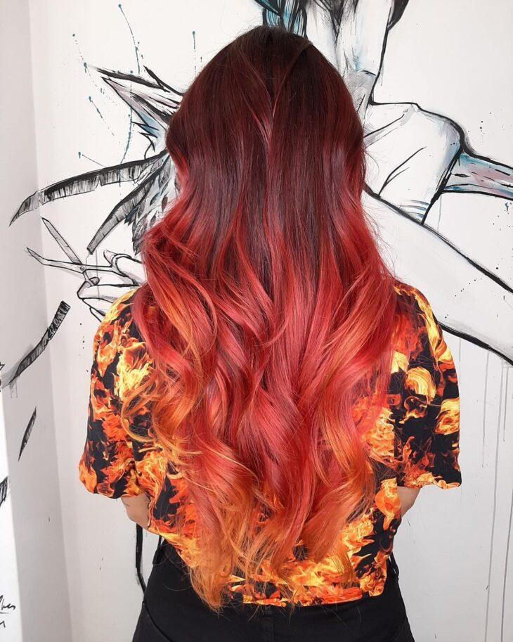 ombré hair vermelho 60