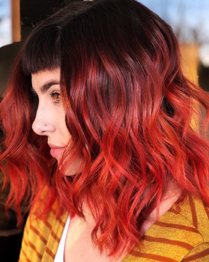 ombré hair vermelho 62