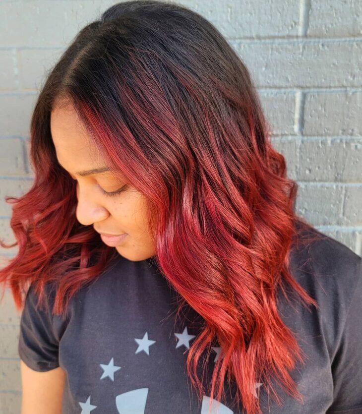 ombré hair vermelho 9
