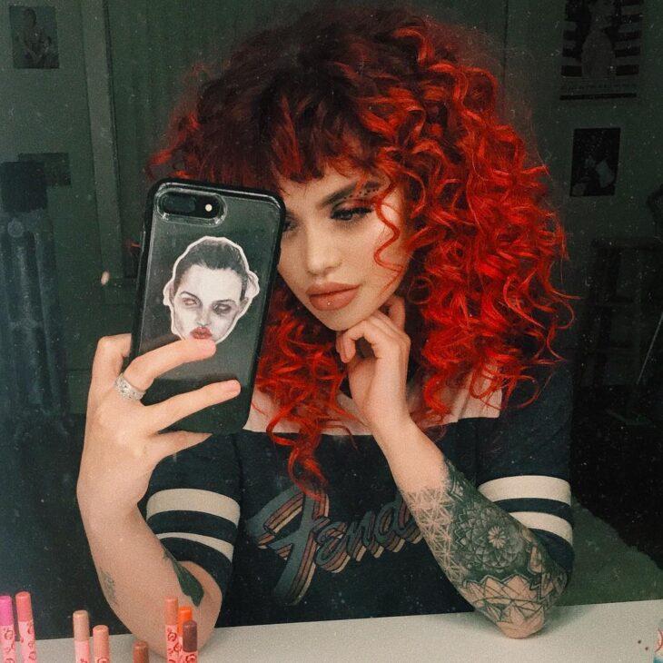 ombré hair vermelho 63