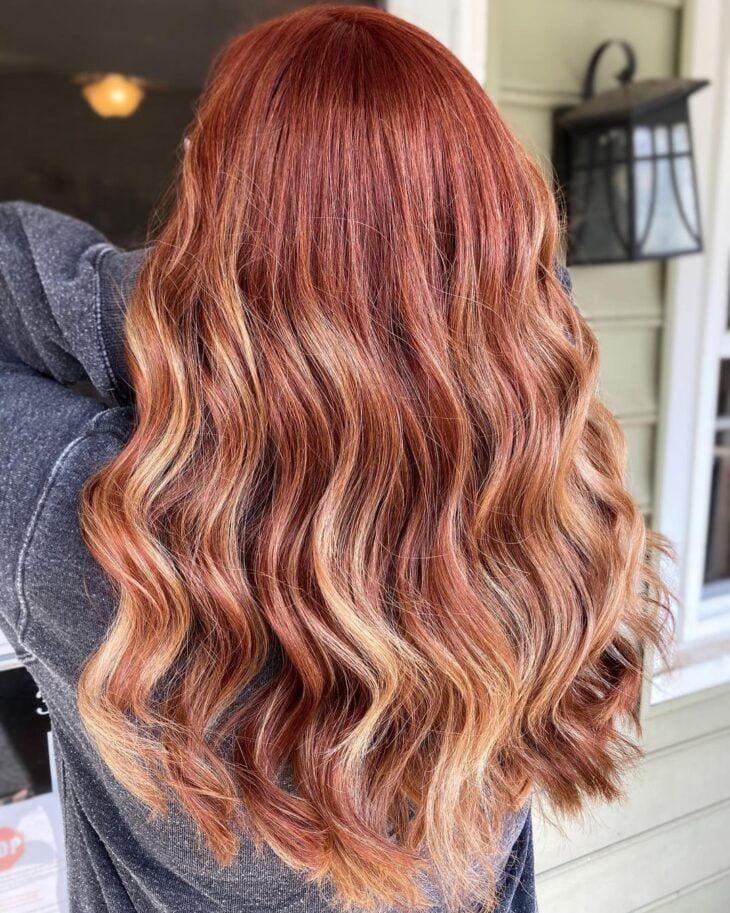 ombré hair vermelho 10