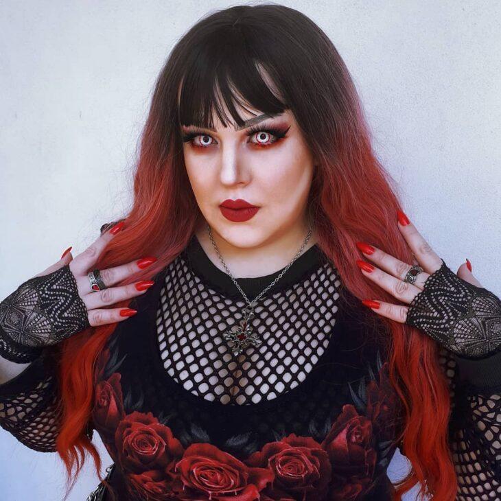 ombré hair vermelho 12