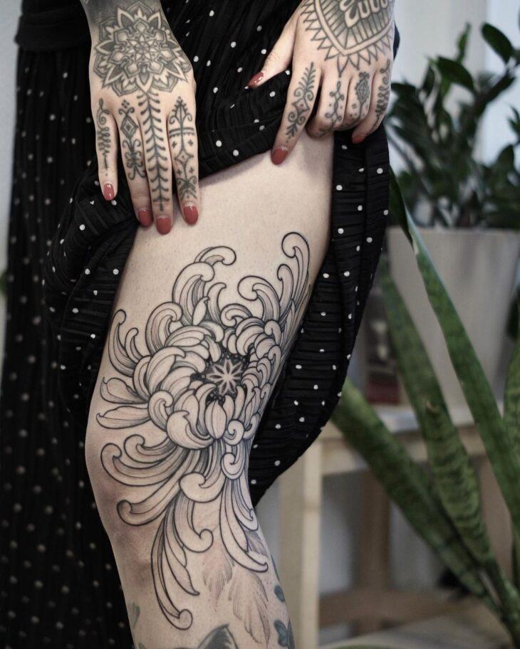 tatuagem na perna 14