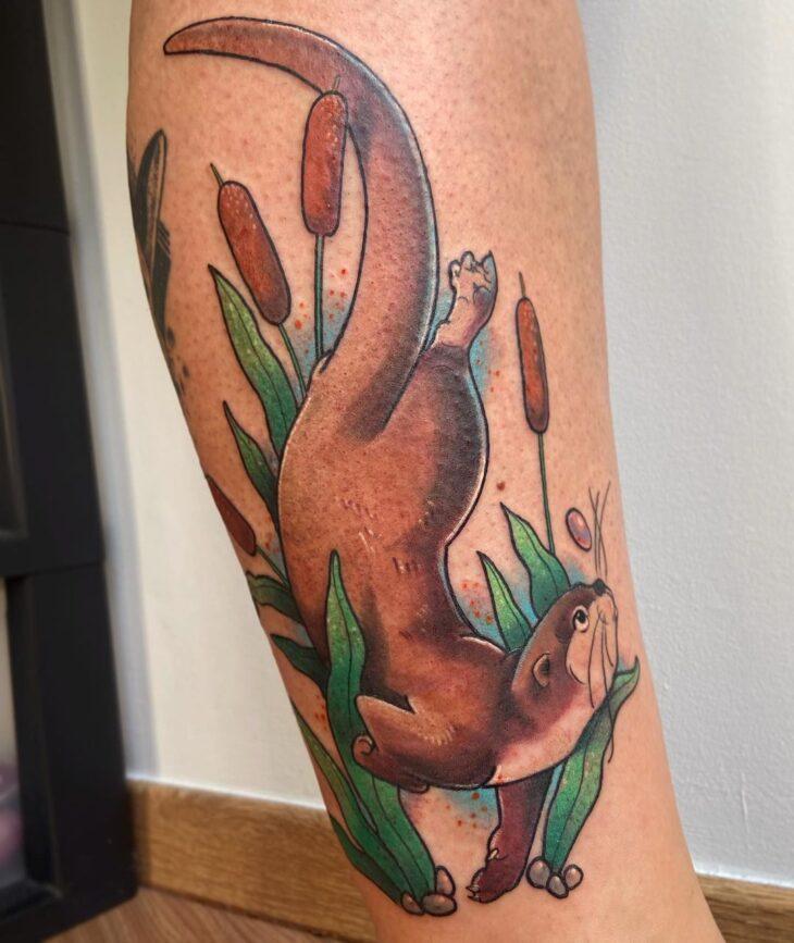 tatuagem na perna 56