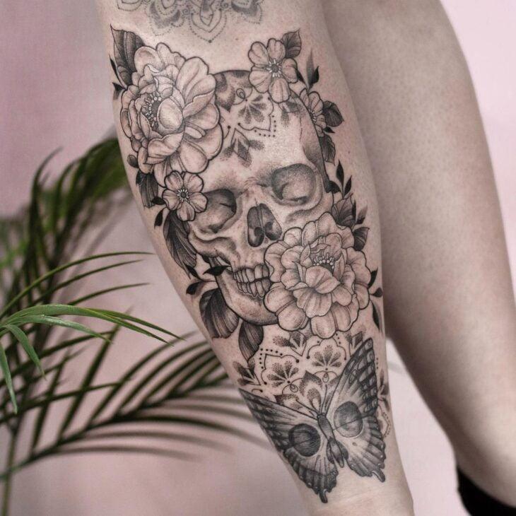 tatuagem na perna 60