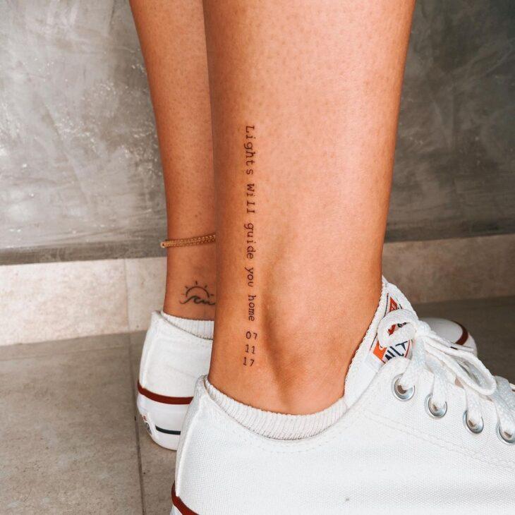 tatuagem na perna 66
