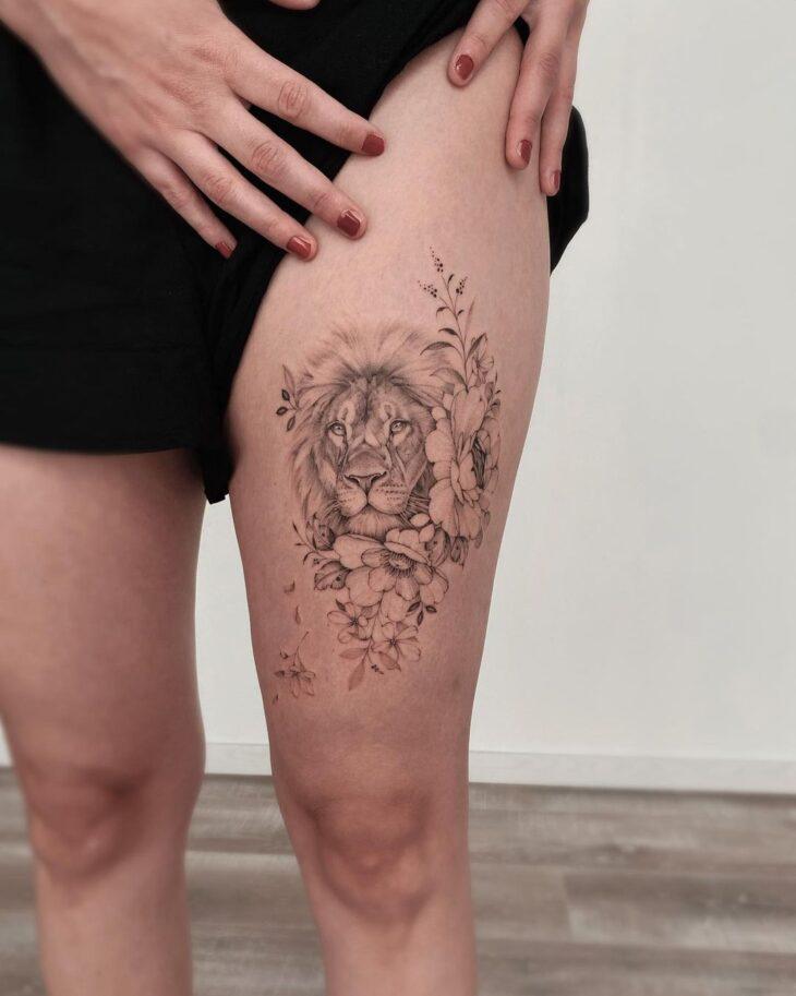 tatuagem na perna 68