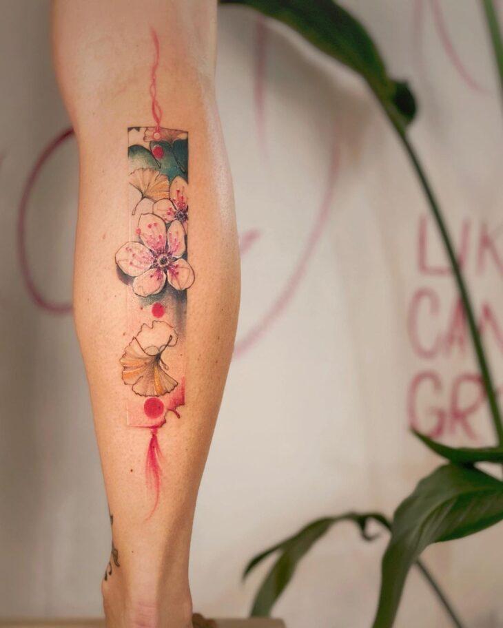 tatuagem na perna 70