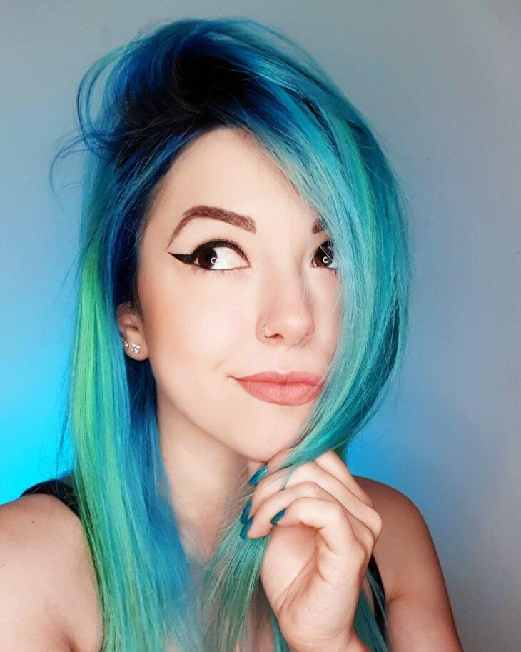 mechas azuis 21