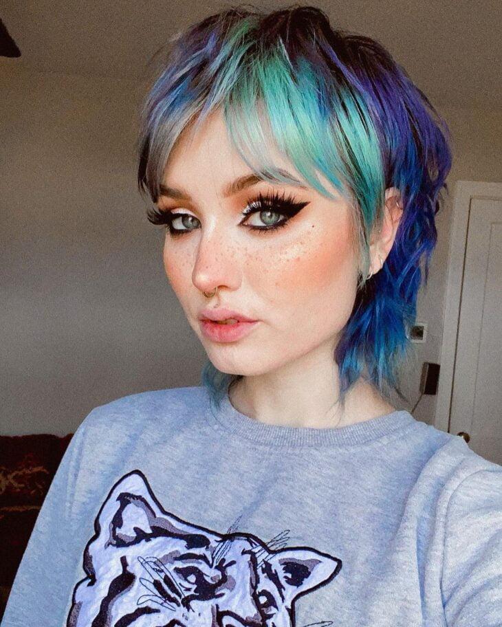 mechas azuis 23