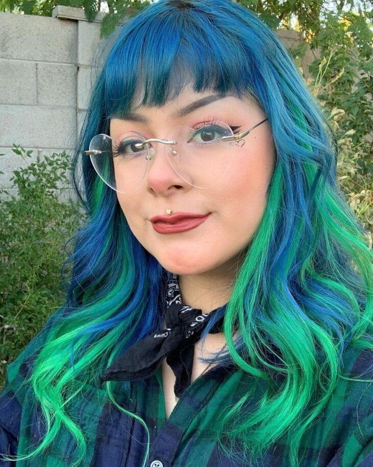 mechas azuis 53