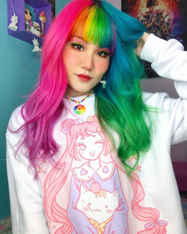 mechas coloridas 7