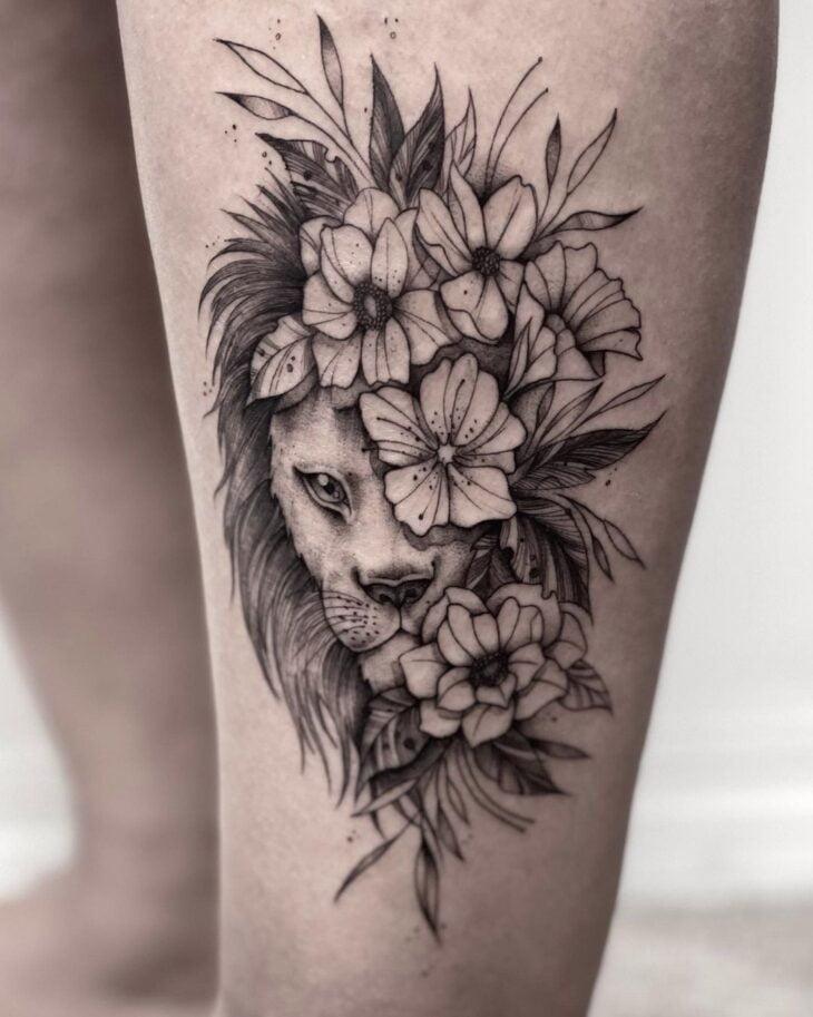 tatuagem de leão 56