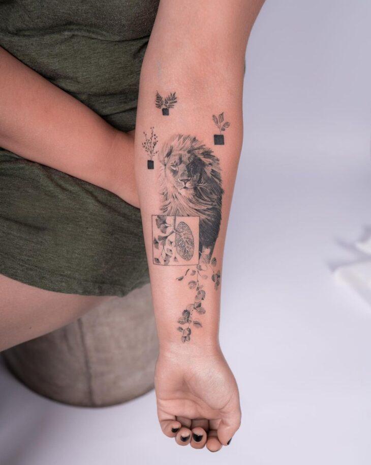 tatuagem de leão 59