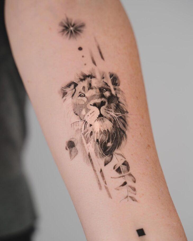 tatuagem de leão 60