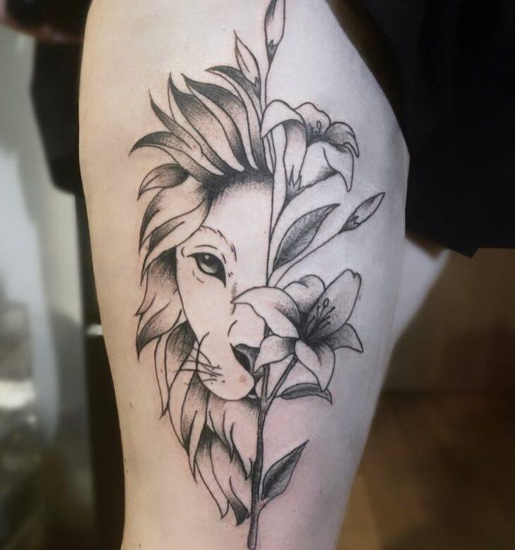 tatuagem de leão 81