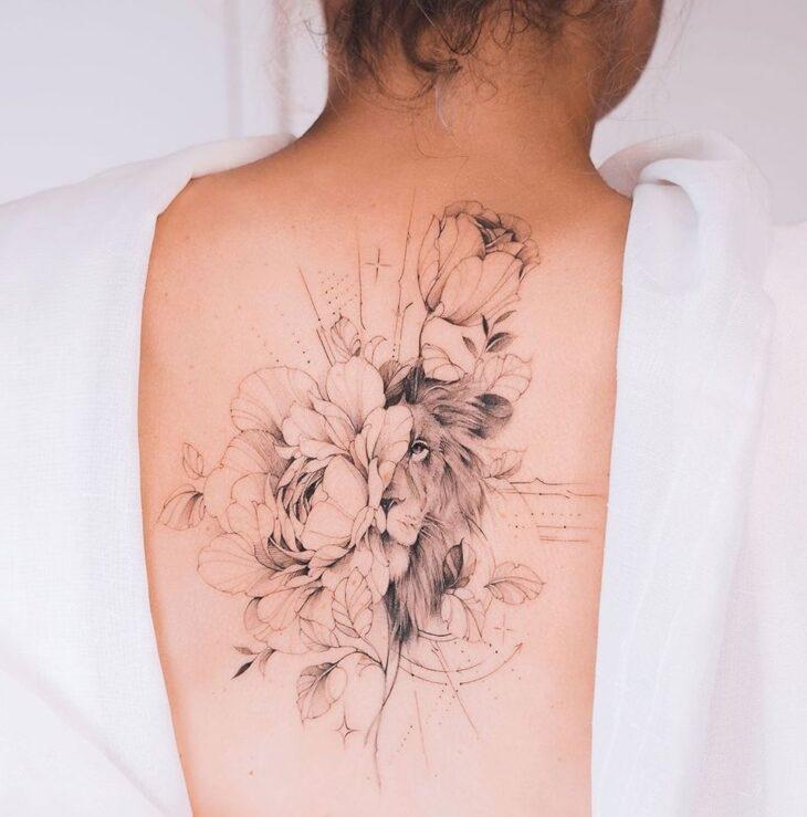 tatuagem de leão 90