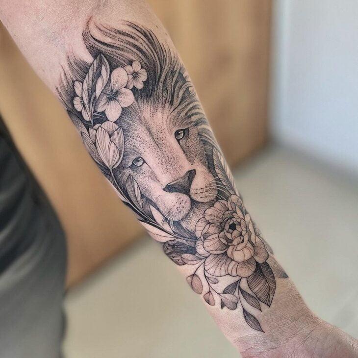 tatuagem de leão 10
