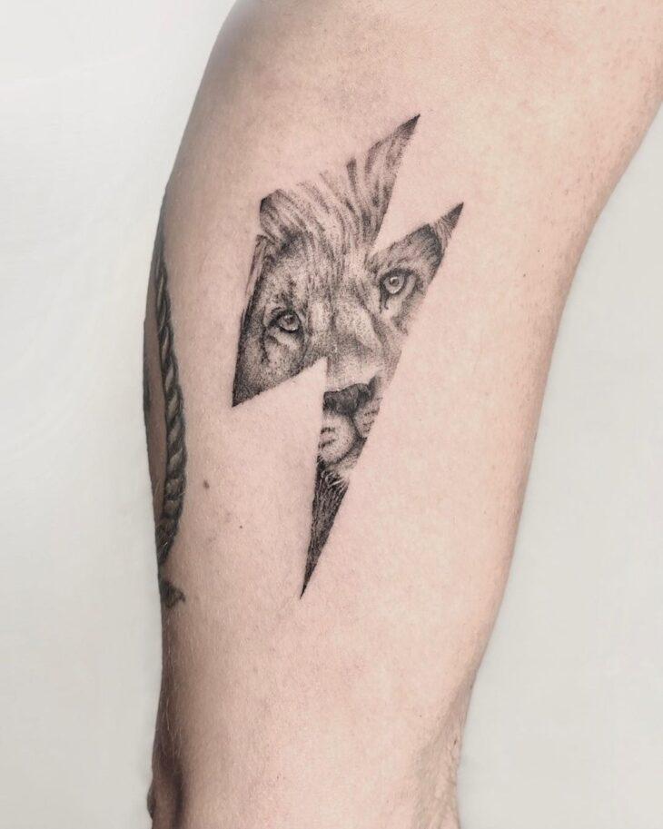 tatuagem de leão 14