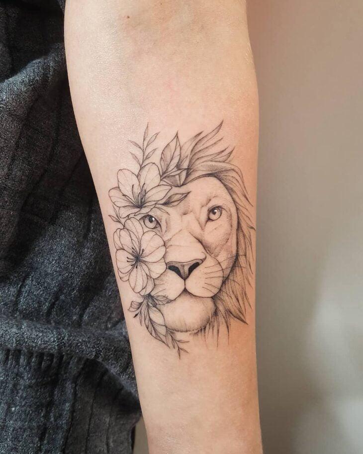 tatuagem de leão 17