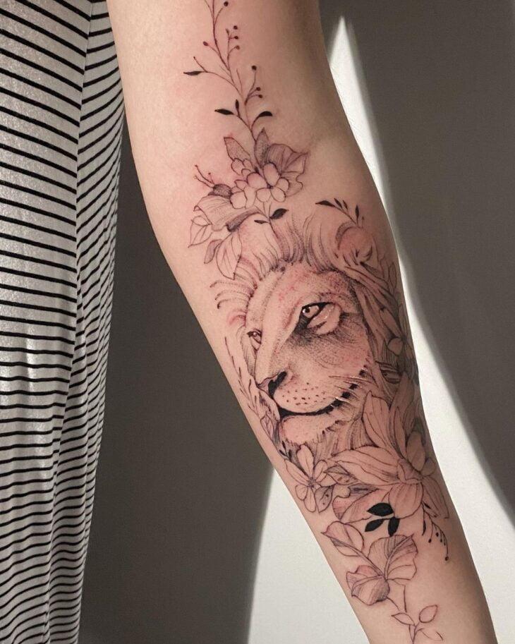 tatuagem de leão 18