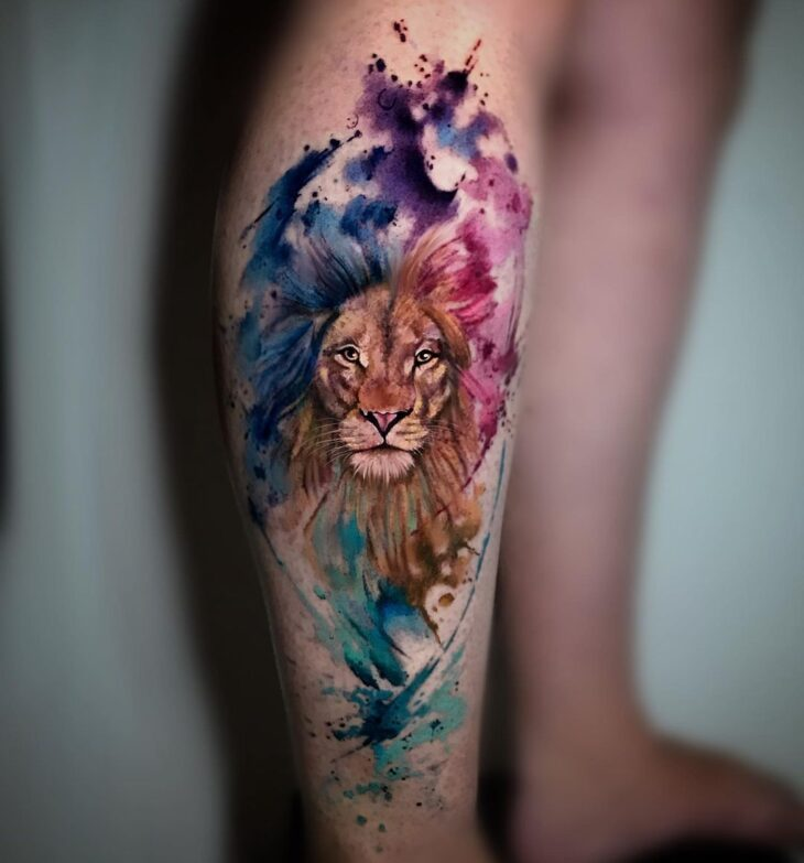 tatuagem de leão 21