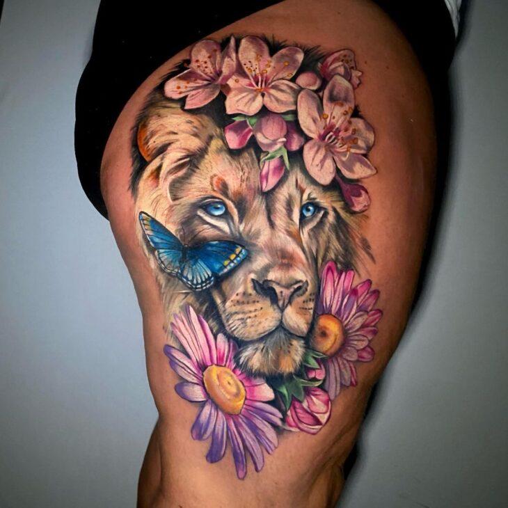 tatuagem de leão 22