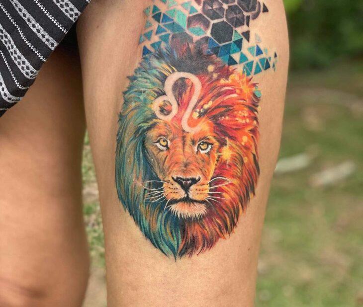tatuagem de leão 23