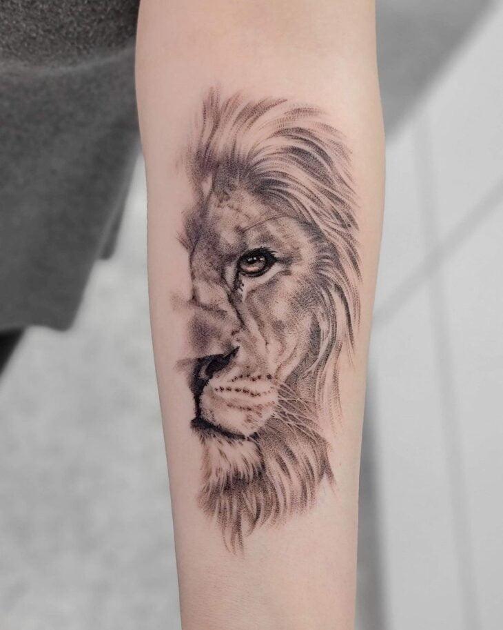 tatuagem de leão 34