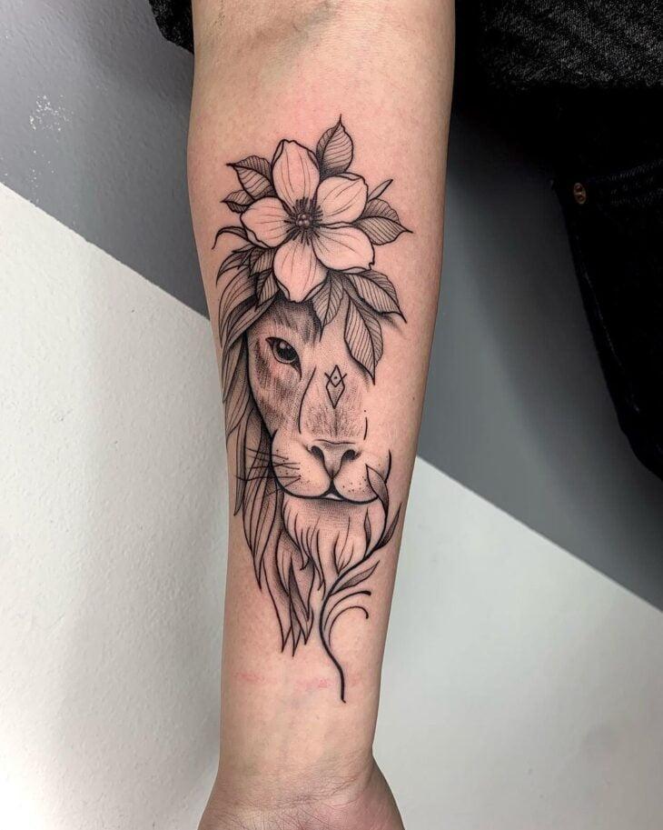 tatuagem de leão 35