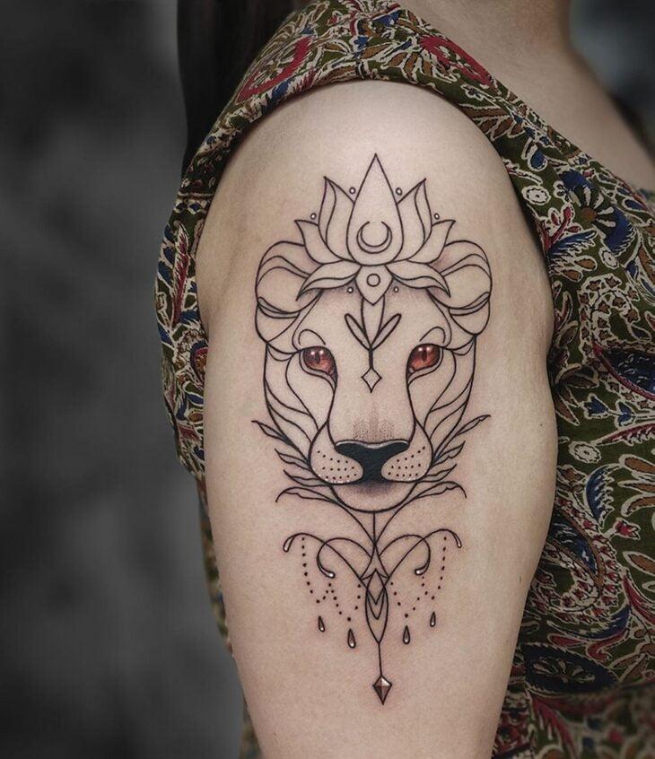 tatuagem de leão 36