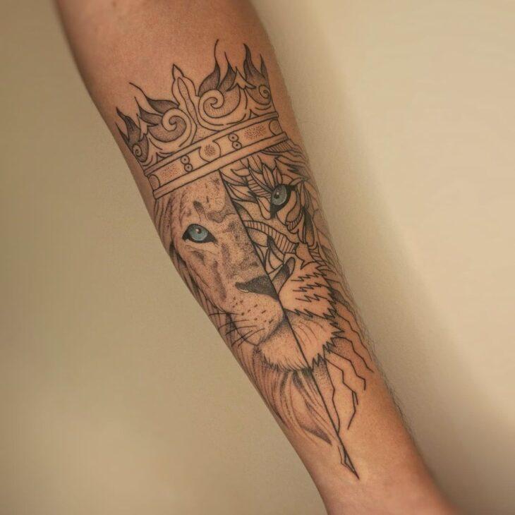 tatuagem de leão 37