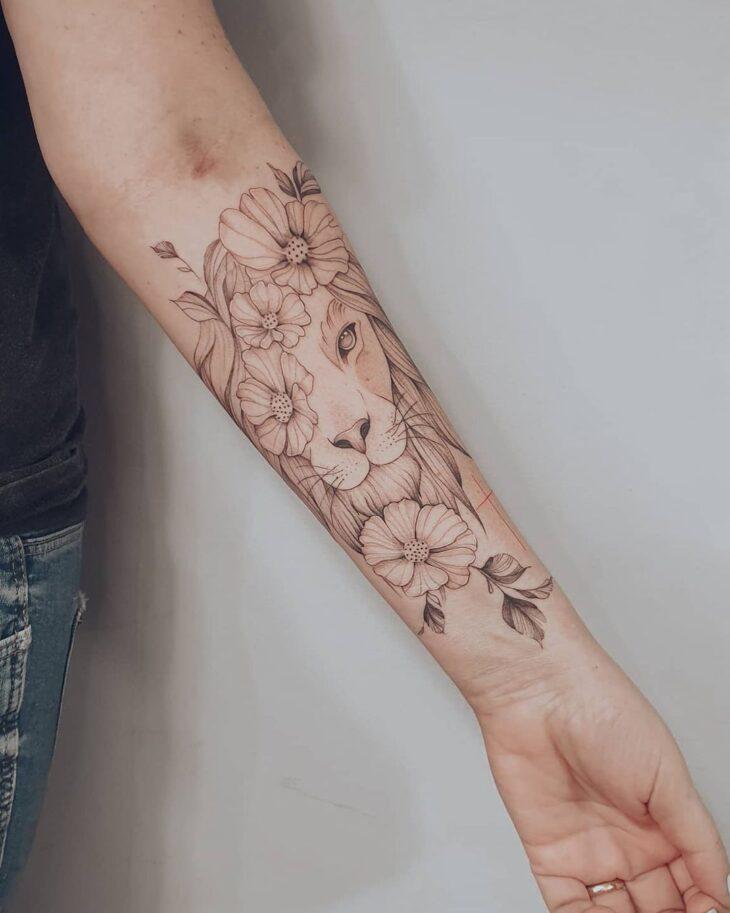 tatuagem de leão 4