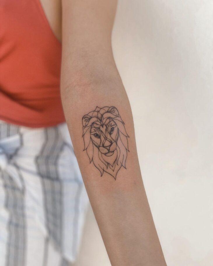 tatuagem de leão 42