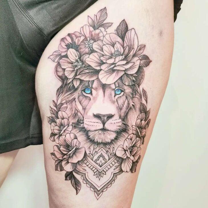 tatuagem de leão 44
