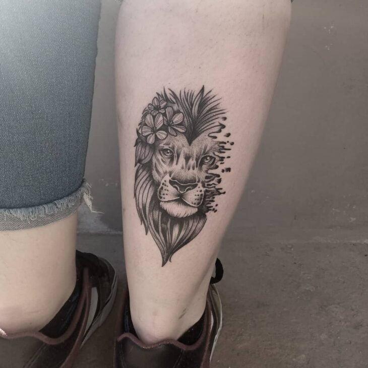 tatuagem de leão 45