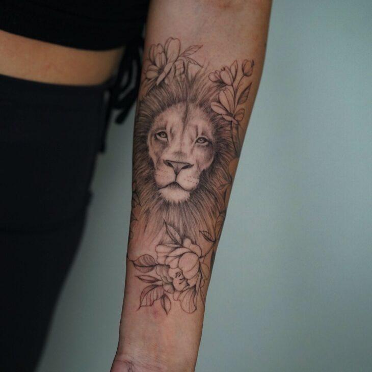tatuagem de leão 49