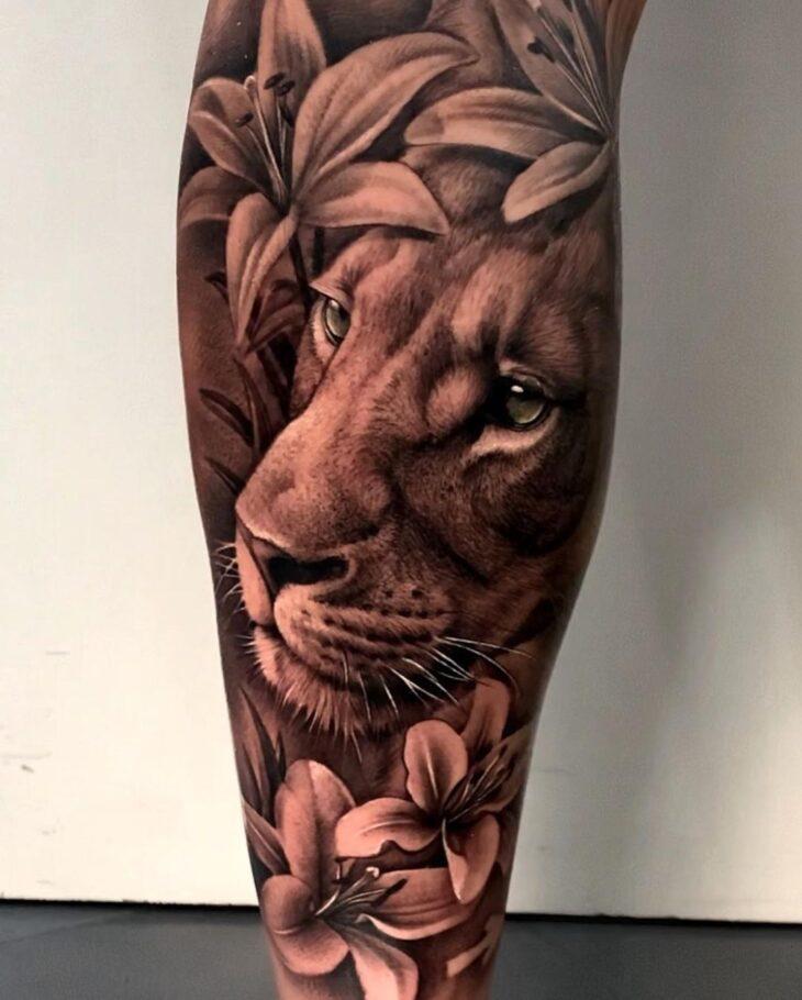 tatuagem de leão 55