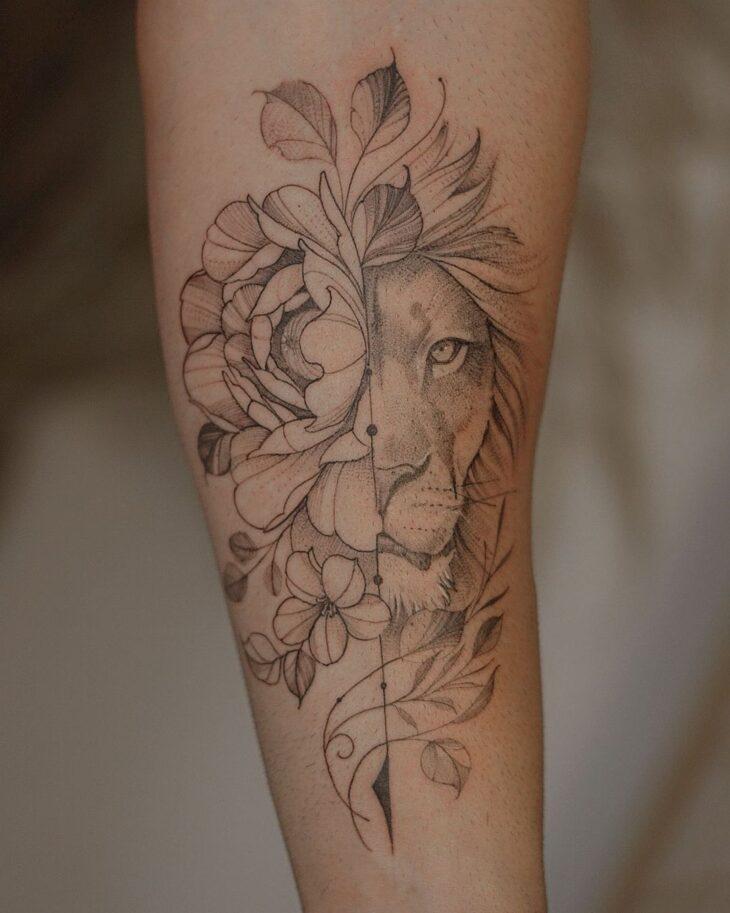 tatuagem de leão 57