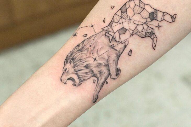 tatuagem de leão 61