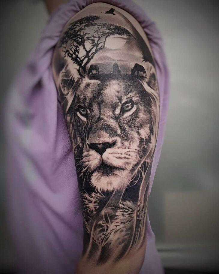 tatuagem de leão 64