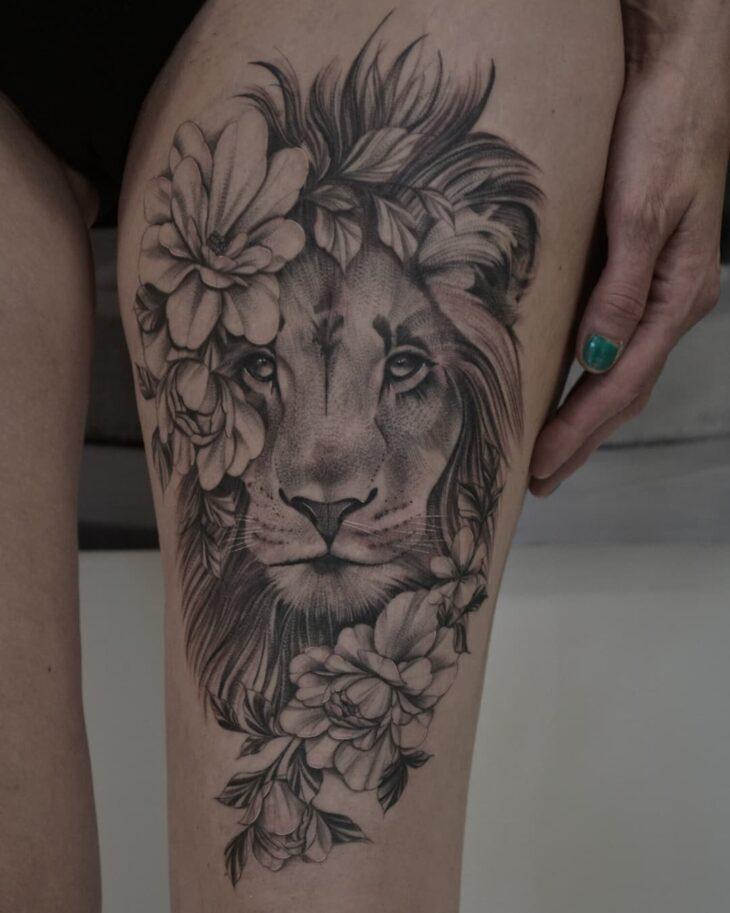tatuagem de leão 65