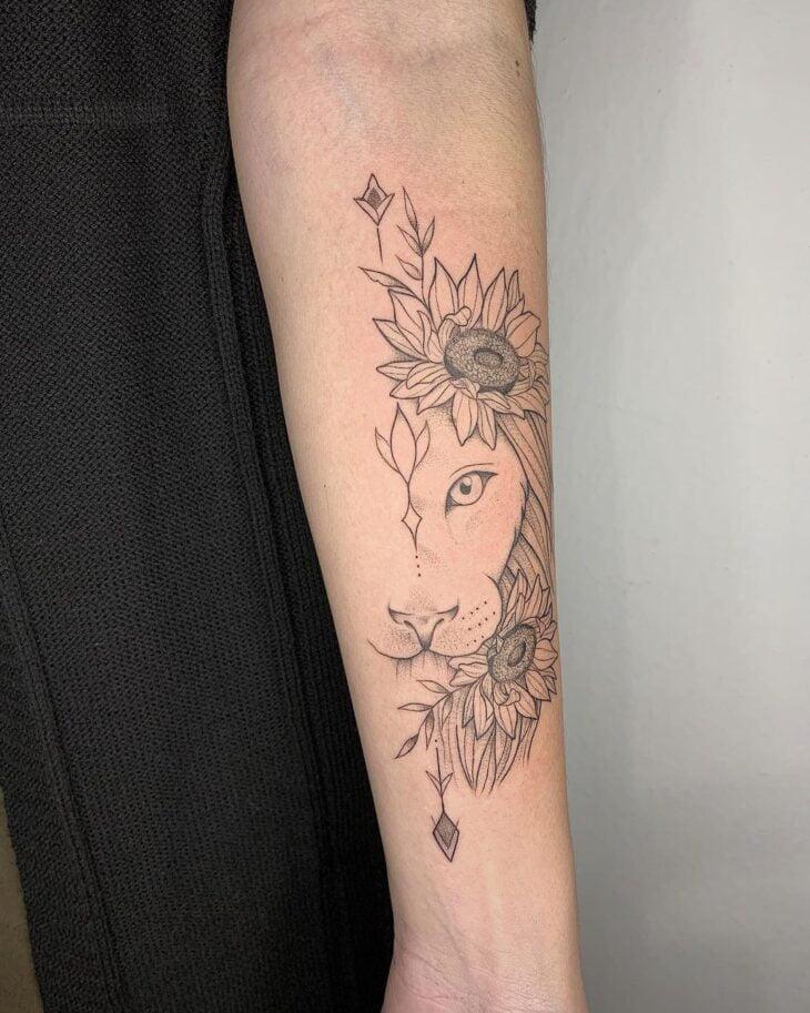 tatuagem de leão 66