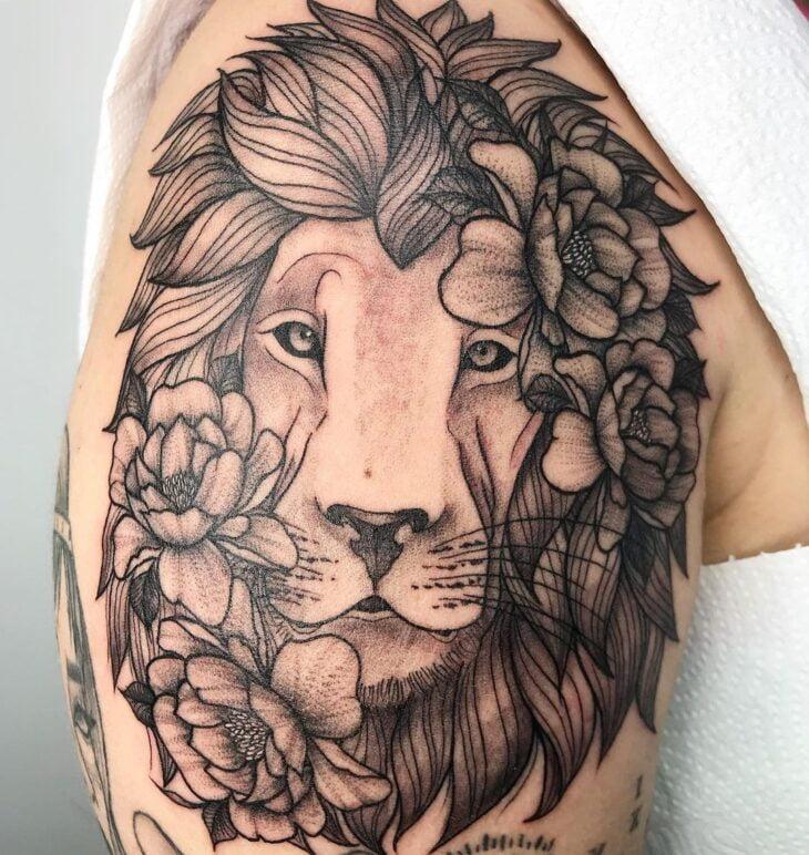 tatuagem de leão 68